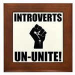 Introverts Un Unite Framed Tile