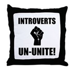 Introverts Un Unite Throw Pillow