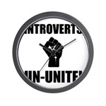 Introverts Un Unite Wall Clock