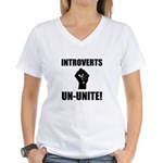 Introverts Un Unite Women's V-Neck T-Shirt