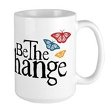 Be the change Large Mugs (15 oz)