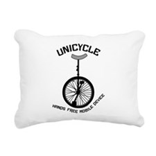 Unicycle Mobile Device Rectangular Canvas Pillow