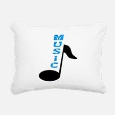 Music Note Text Rectangular Canvas Pillow