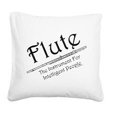 Flute Square Canvas Pillow