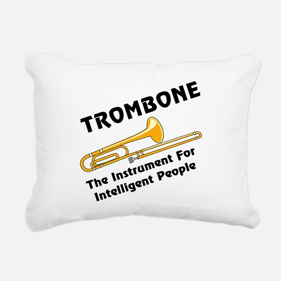 grayTromIntelBL.png Rectangular Canvas Pillow