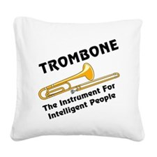 grayTromIntelBL.png Square Canvas Pillow