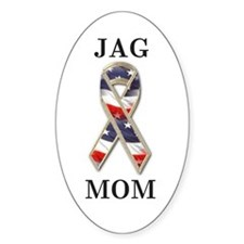 jag mom Oval Decal
