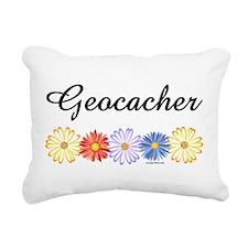 Geocacher Asters Rectangular Canvas Pillow