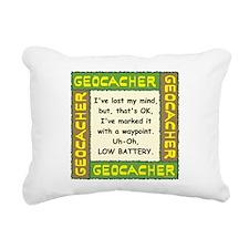 Green Geocacher Lost Mind Rectangular Canvas Pillo