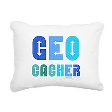 Geocacher Arrows Blue Rectangular Canvas Pillow