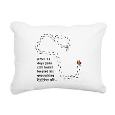 Holiday Geocacher Rectangular Canvas Pillow