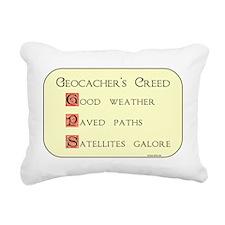 Geocacher's Creed Rectangular Canvas Pillow