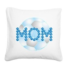 Blue Soccer Mom Square Canvas Pillow