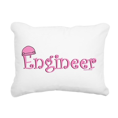 Pink Engineer Rectangular Canvas Pillow