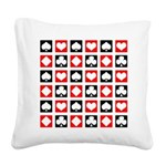 Deck Of Cards Square Canvas Pillow