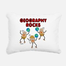 Three Geography Rocks Rectangular Canvas Pillow