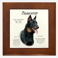 Beauceron  Framed Tile