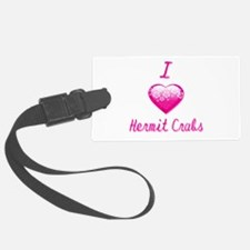 I Love/Heart Hermit Crabs Luggage Tag