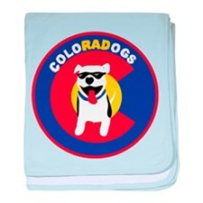 THE Official ColoRADogs Logo baby blanket