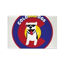 THE Official ColoRADogs Logo Rectangle Magnet