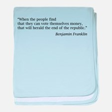 """Franklin: """"When the people find..."""" baby blanket"""