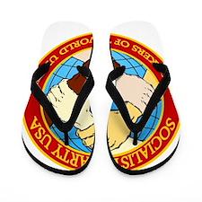 Socialist Party USA Logo Flip Flops