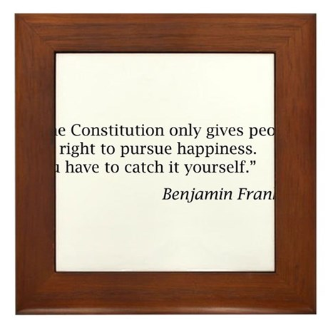 """Franklin: """"The Constitution only gives people..."""""""