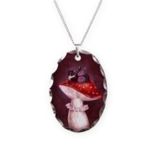 Mushroom Fairy Cat Necklace