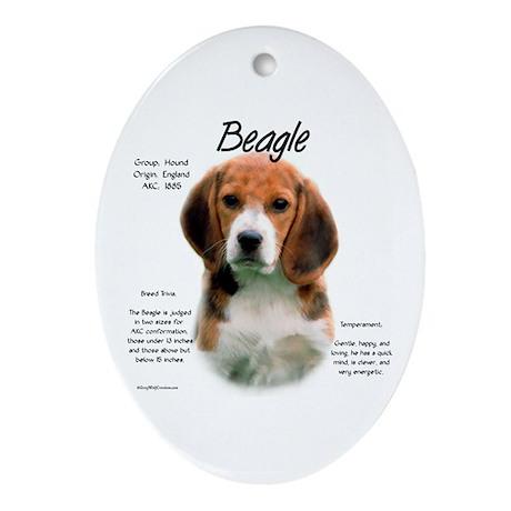 Beagle Oval Ornament