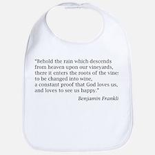 """Benjamin Franklin: """"...proof that God loves us..."""""""