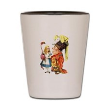 Alice and the Duchess Play Croquet Shot Glass
