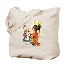 Alice and the Duchess Play Croquet Tote Bag