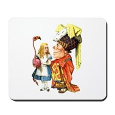 Alice and the Duchess Play Croquet Mousepad