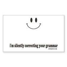silently correcting your grammar Stickers