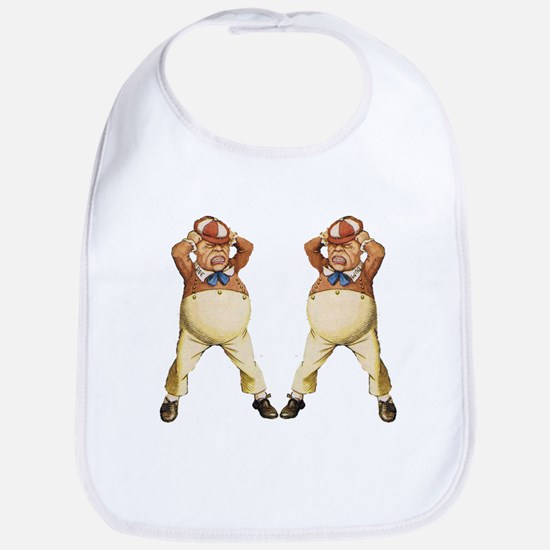 Tweedledee and Tweedledum Bib