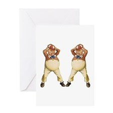 Tweedledee and Tweedledum Greeting Card