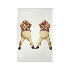 Tweedledee and Tweedledum Rectangle Magnet