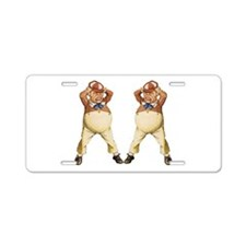 Tweedledee and Tweedledum Aluminum License Plate