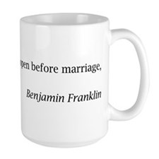 Benjamin Franklin on Marriage Mug