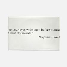 Benjamin Franklin on Marriage Rectangle Magnet