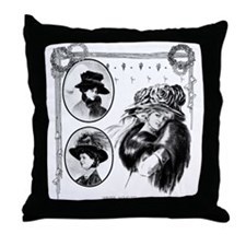 1908 Winter Novelties Throw Pillow