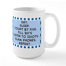 Pharmacist eat sleep blanket.PNG Mug