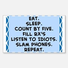Pharmacist eat sleep blanket.PNG Decal