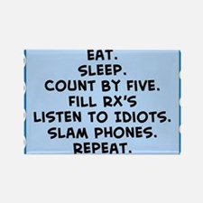 Pharmacist eat sleep blanket.PNG Rectangle Magnet