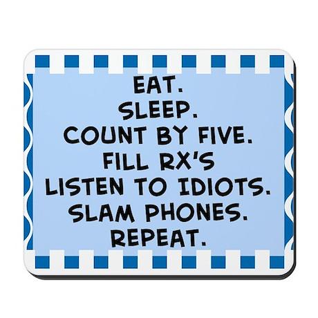 Pharmacist eat sleep blanket.PNG Mousepad