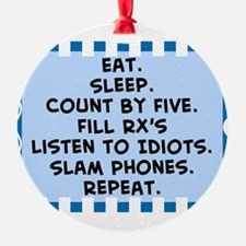 Pharmacist eat sleep blanket.PNG Ornament
