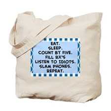Pharmacist eat sleep blanket.PNG Tote Bag