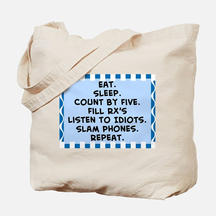 Pharmacist eat sleep blanket.PNG Tote Bag