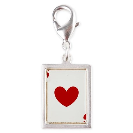 card ace of hearts.png Silver Portrait Charm