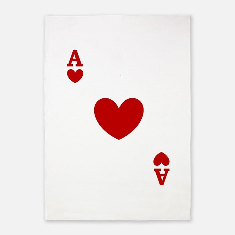 card ace of hearts.png 5'x7'Area Rug